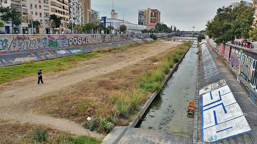 El río Guadalmedina, camino de ser el Klondike