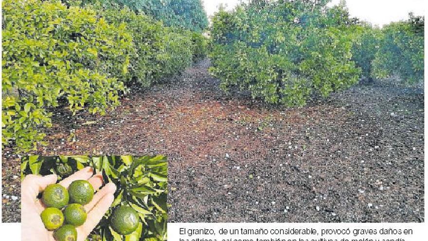 El Consorcio de Seguros no se hará cargo de los daños por la granizada de Castellón