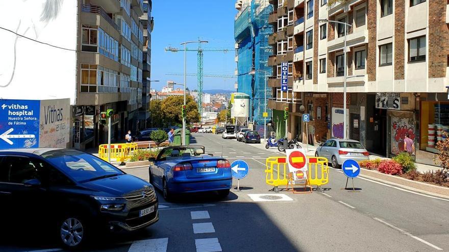 Vía Norte, cortada al tráfico: cómo circular desde hoy por esta zona de Vigo