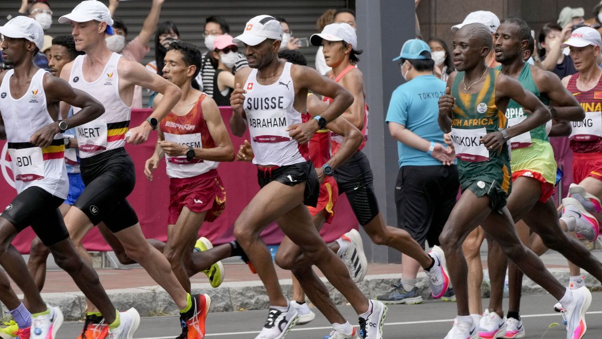 Lamdassem rozó la gloria olímpica en el maratón.
