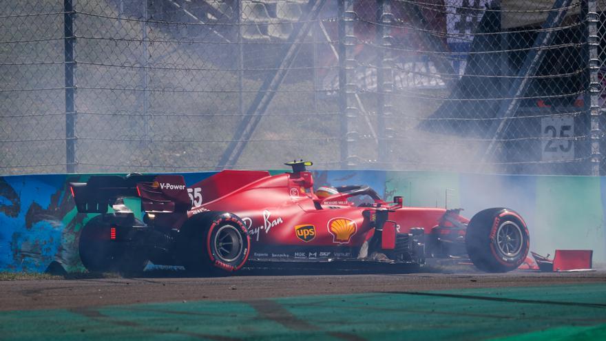 Así fue el accidente de Carlos Sainz en Hungría