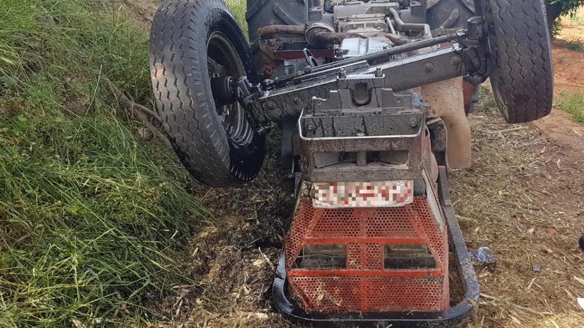 El tractor accidentado