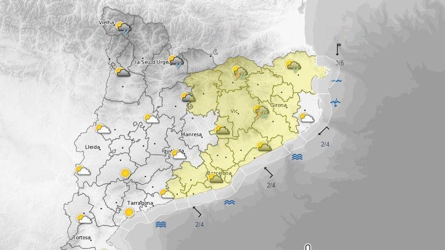 Protecció Civil activa en fase de prealerta el pla Inuncat per previsió de pluges fortes aquest cap de setmana