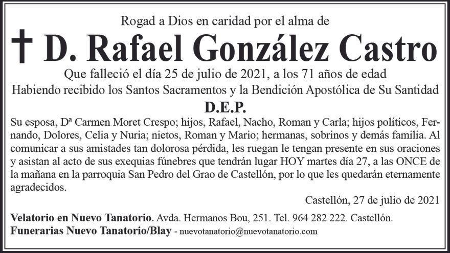 D. Rafael González Castro