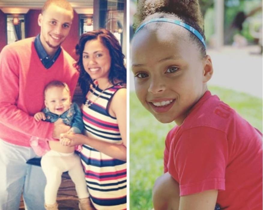 La hija de Stephen Curry.