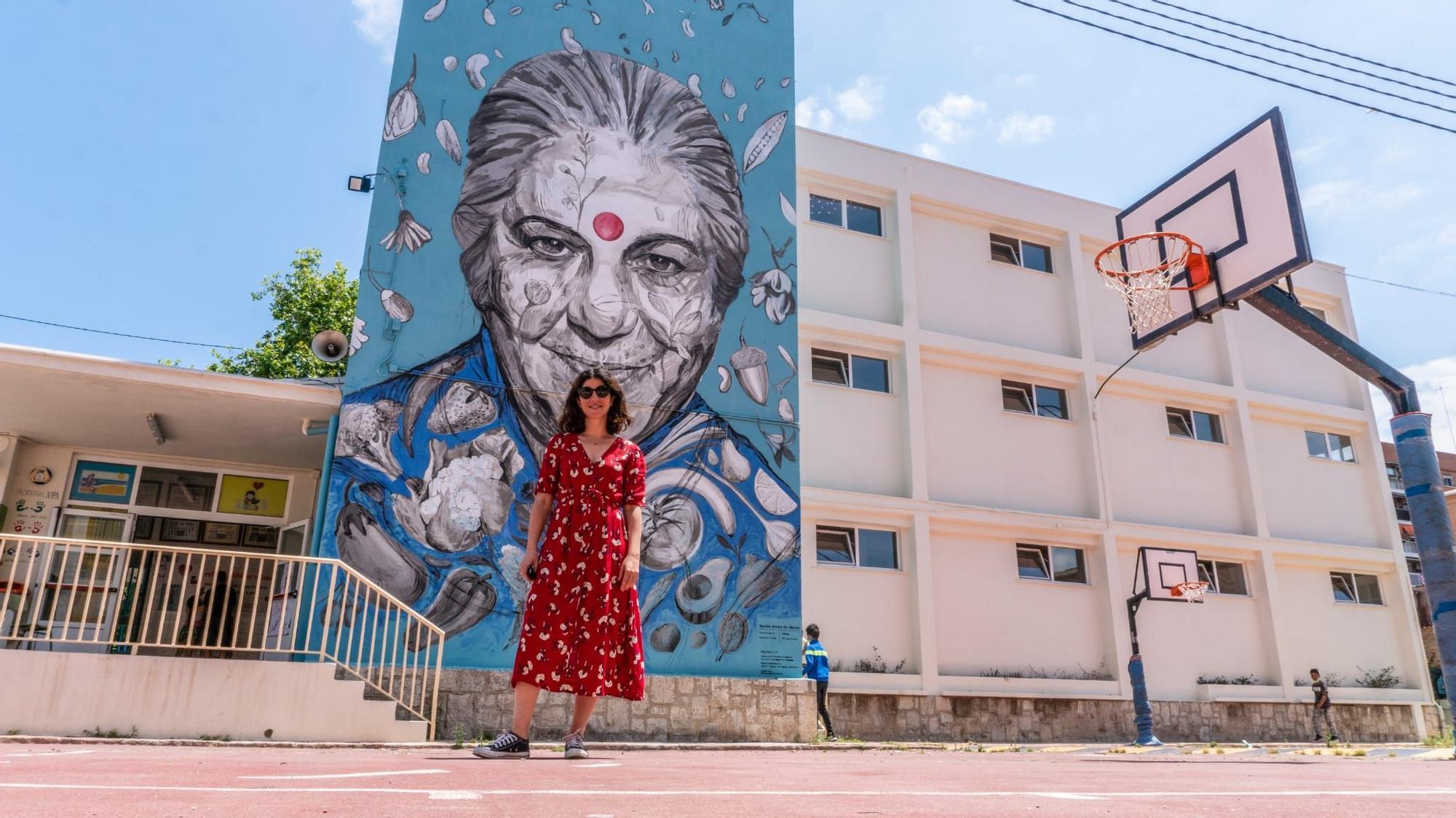 Fallas 2021: Arte urbano con la firma de Marina Puche
