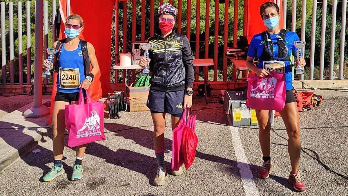 Ganadoras de la prueba femenina celebrada este pasado domingo en las montañas de Génova.