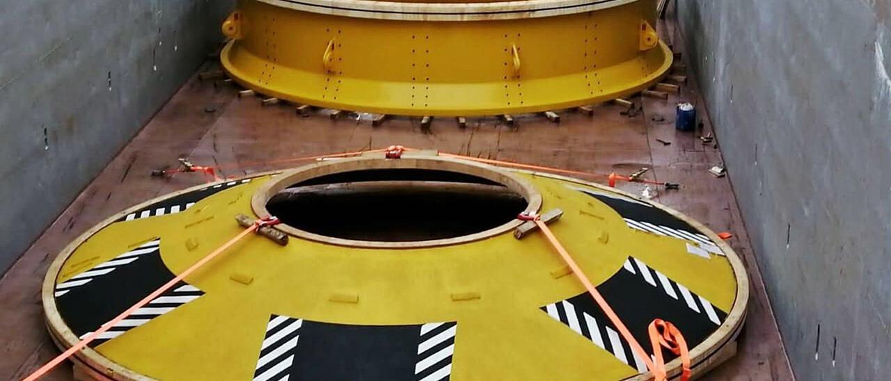 """Una de las últimas piezas enviadas por Citic Censa para el sector """"offshore"""""""