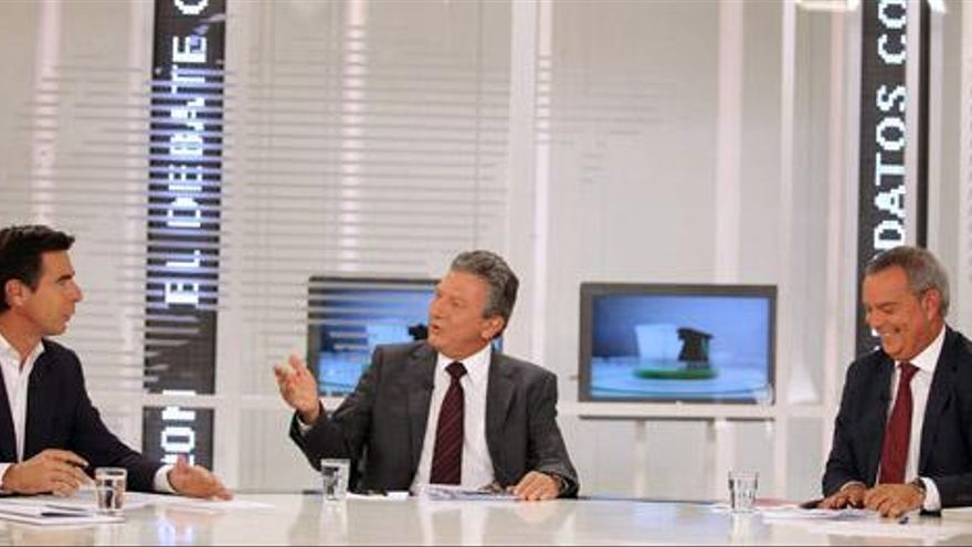 Soria y Franquis se echan en cara el paro y los recortes en el debate electoral