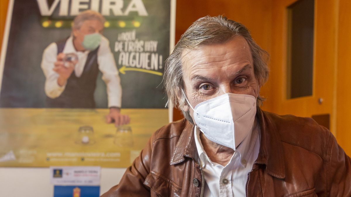 Manolo Vieira, during the presentation of his new show
