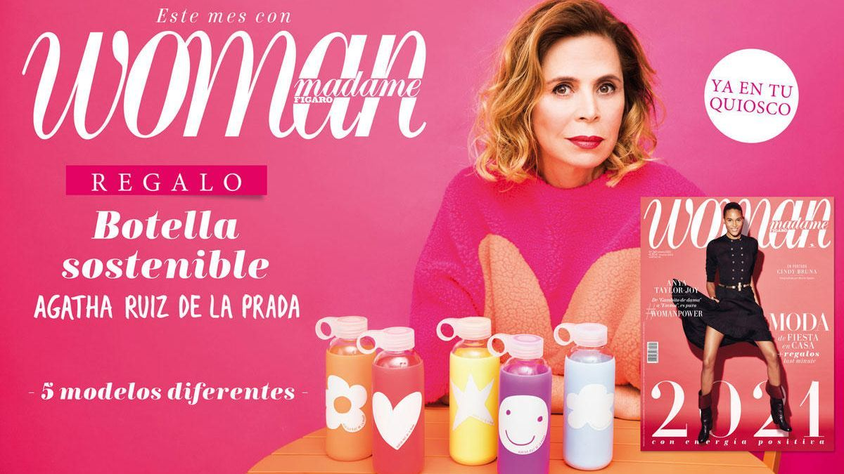 Agatha Ruiz de la Prada ha diseñado 5 botellas en exclusiva para Woman MF.