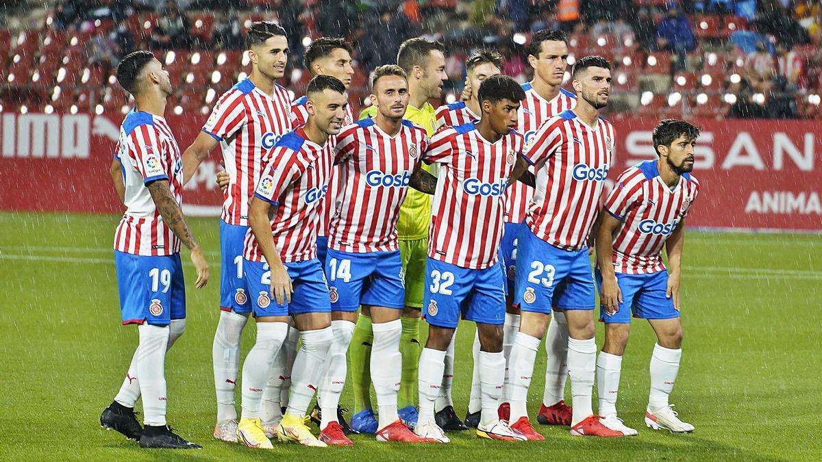 L'onze que el Girona va presentar el passat dissabte contra el Valladolid a Montilivi