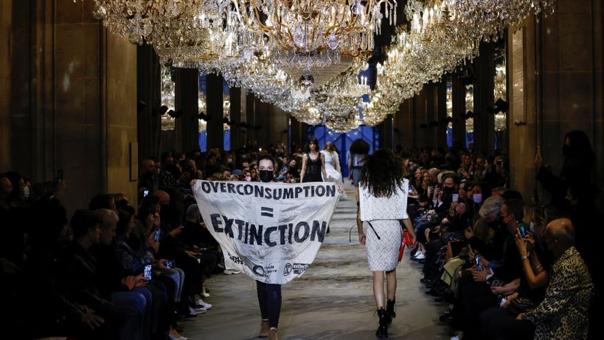 Boicot al desfile de Louis Vuitton durante la Semana de la Moda de París