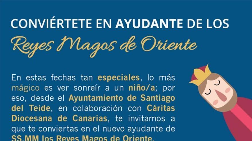 Santiago del Teide busca ayudantes de los Reyes Magos de Oriente