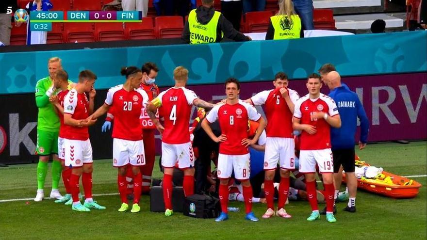 Críticas a Mediaset por emitir en bucle el desplome de Eriksen en la Eurocopa