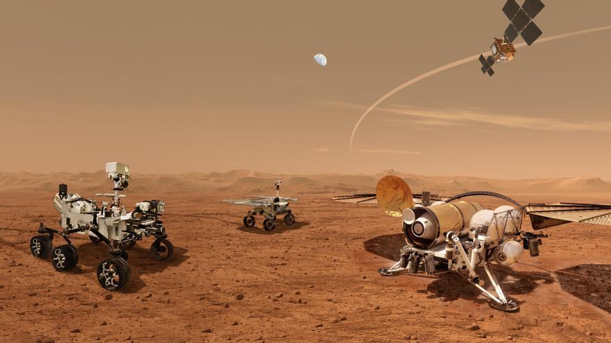 La NASA desvela los robots con los que sacará muestras de Marte