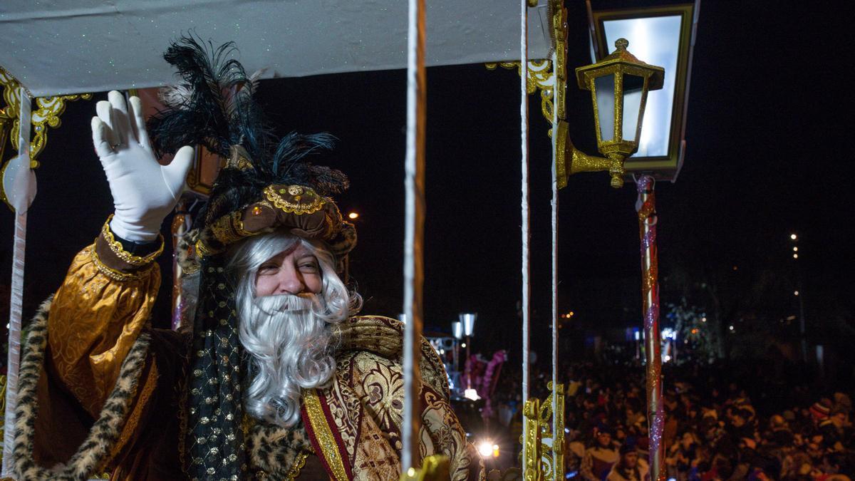 El rey Melchor, durante la Cabalgata de Ourense del año pasado.