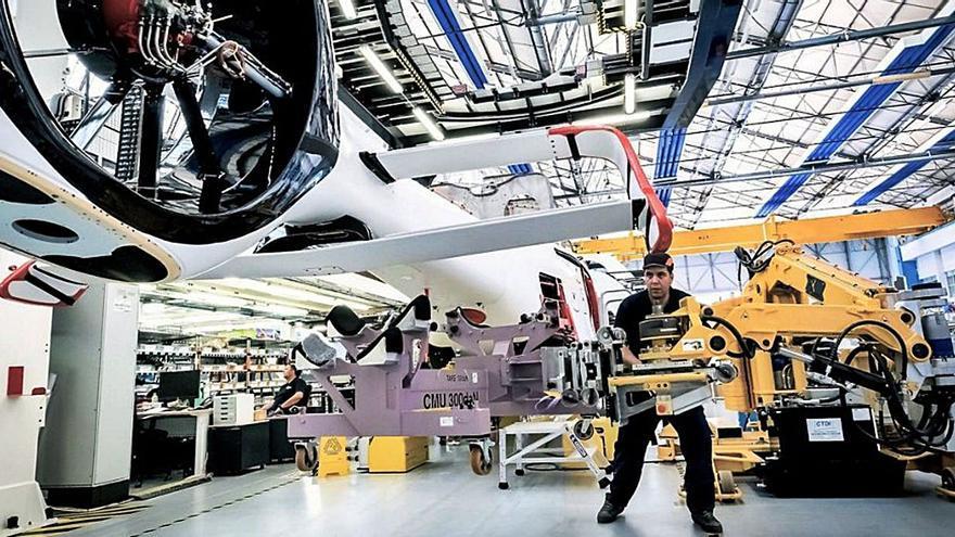 Utingal fabrica su primera línea de montaje para helicópteros con un pedido para Airbus Albacete