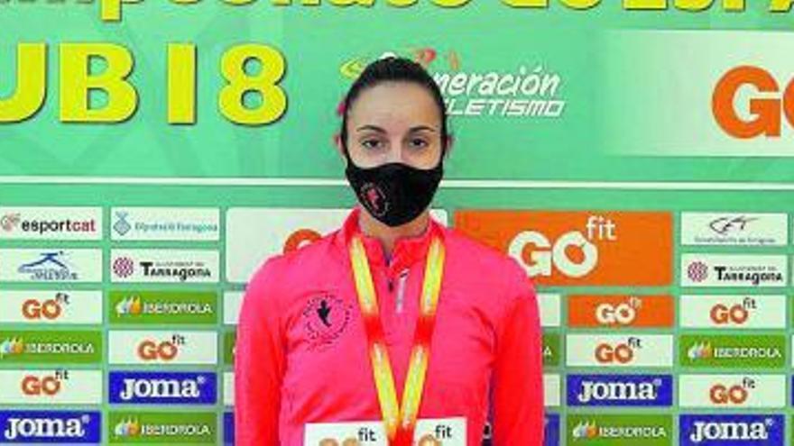 Subcampeona de España juvenil en triple salto