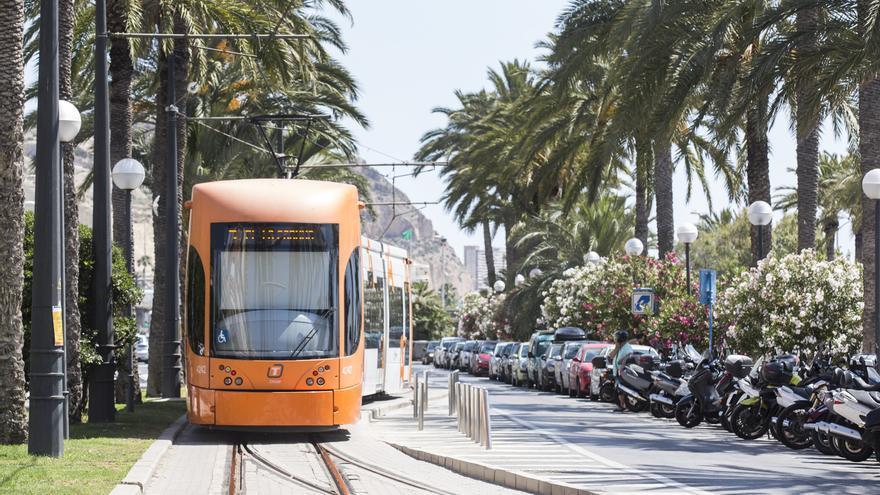 Herida leve tras ser golpeada por el tranvía en la playa del Postiguet de Alicante