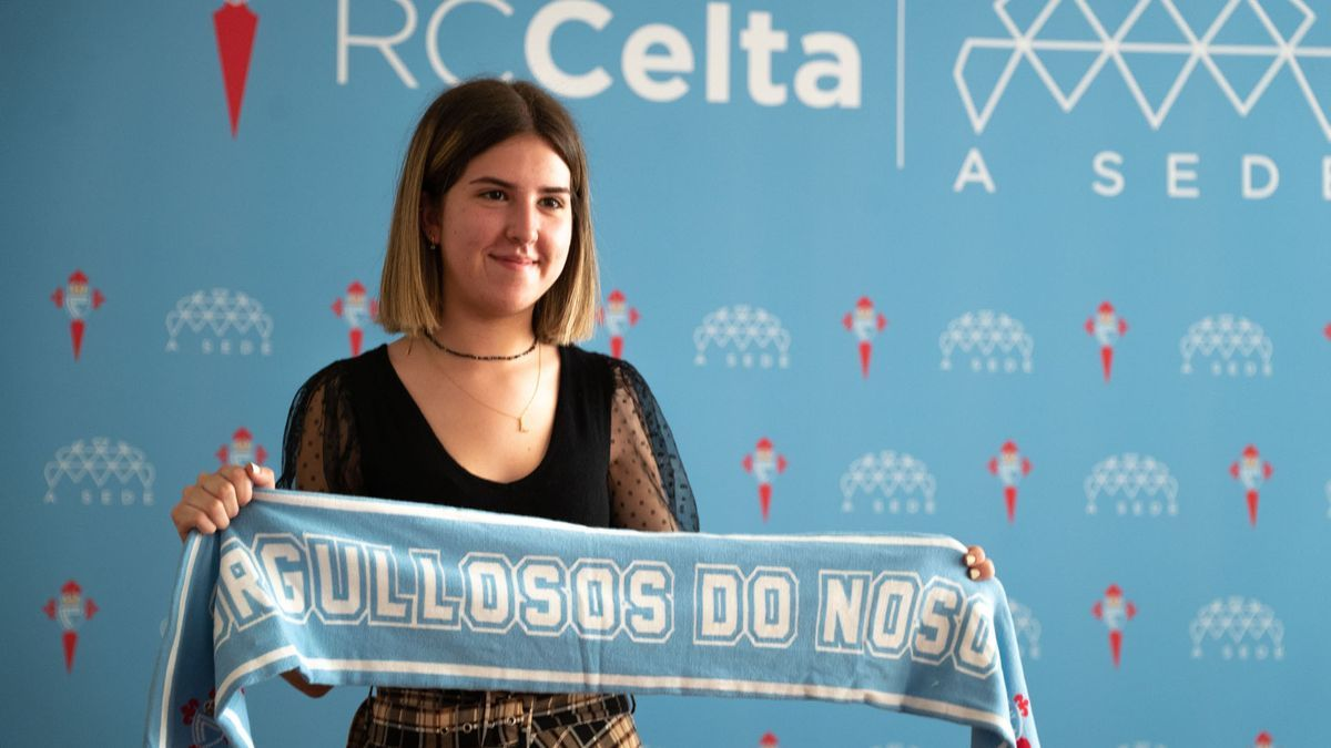 Lucía Chazo, durante esos duros días de la ABAU, que en unas semanas se encontraría ante las cámaras posando con la camiseta de su club del alma: el Celta.