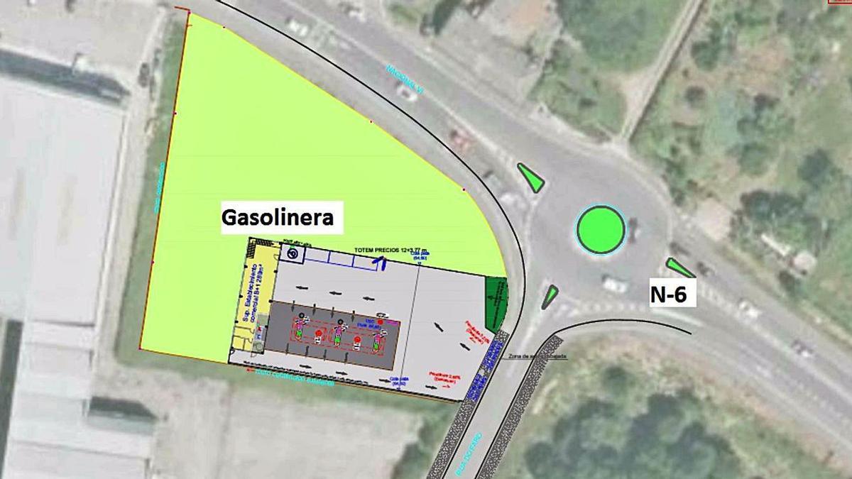 Ubicación de la nueva gasolinera en el polígono de Iñás. |   // LA OPINIÓN