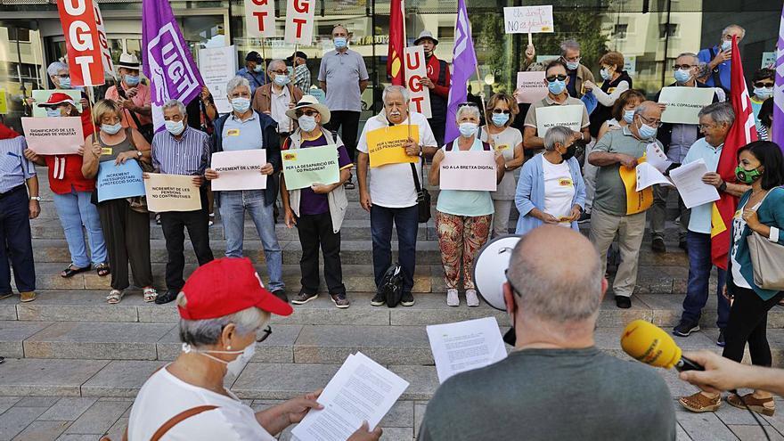 Girona Els pensionistes jubilats reclamen unes prestacions dignes