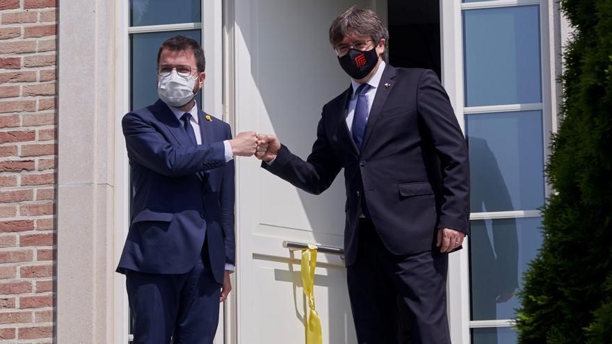 Aragonès se reúne con Puigdemont en Waterloo para abordar la legislatura y los indultos