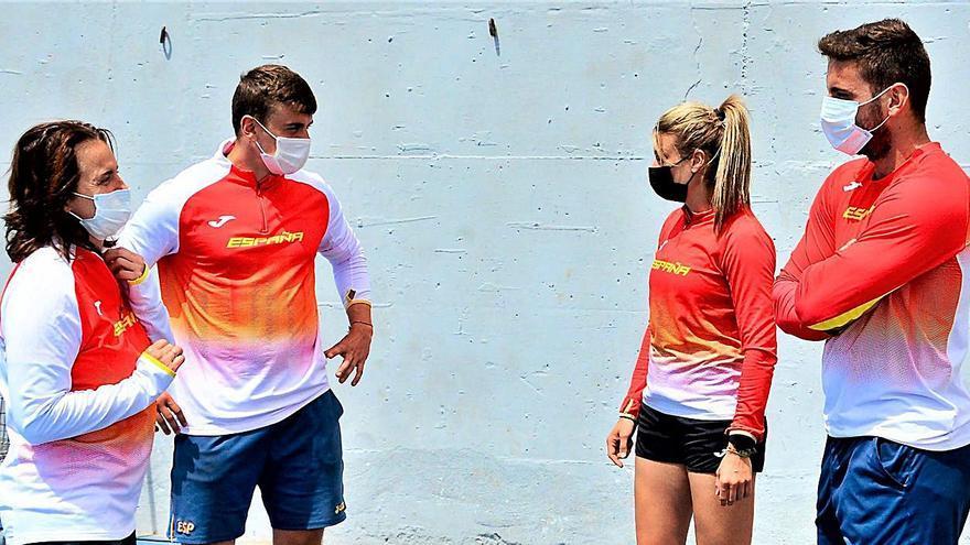 Los lanzadores de jabalina de la selección española eligen Vecindario para prepararse