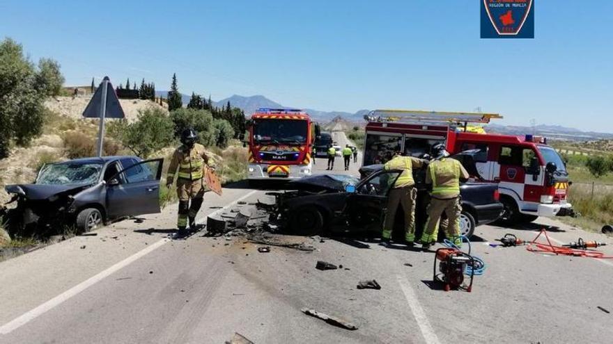 Un fallecido y dos heridos en un accidente de tráfico en Archena