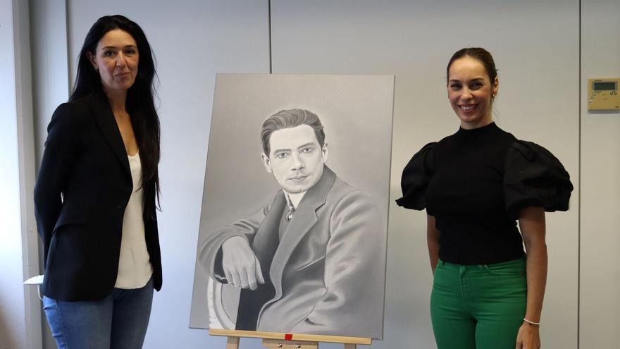 La Casa-Museo Tomás Morales recibe un retrato del poeta de la artista María Suárez Alemán