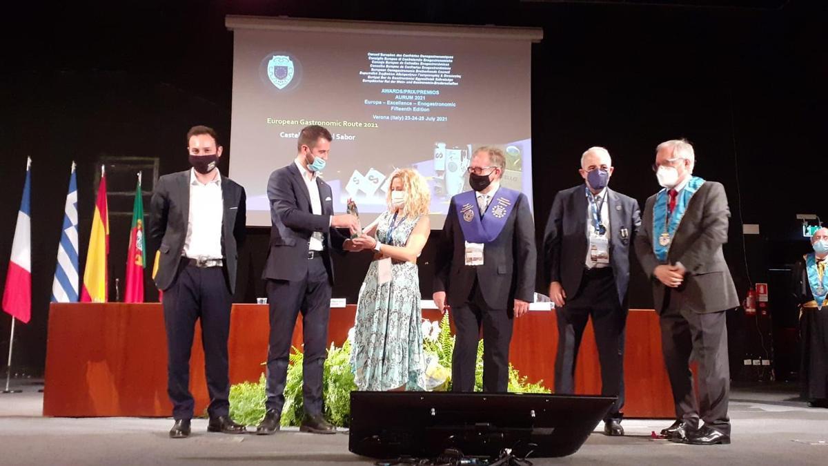 'Castelló Ruta de Sabor' recoge el premio 'Aurum Europa Excelence Enogastronomic' en la ciudad italiana de Verona.