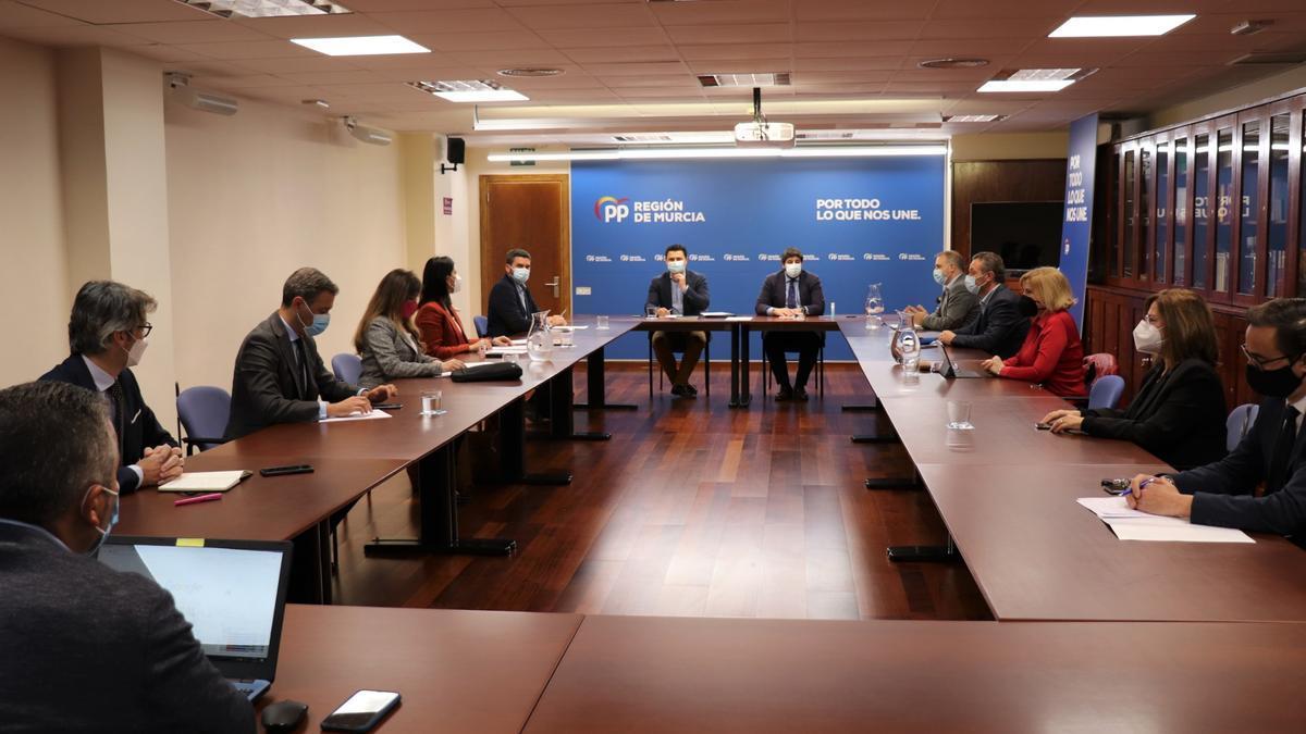 El Comité de Dirección del PP se reunió este lunes en la sede del partido.