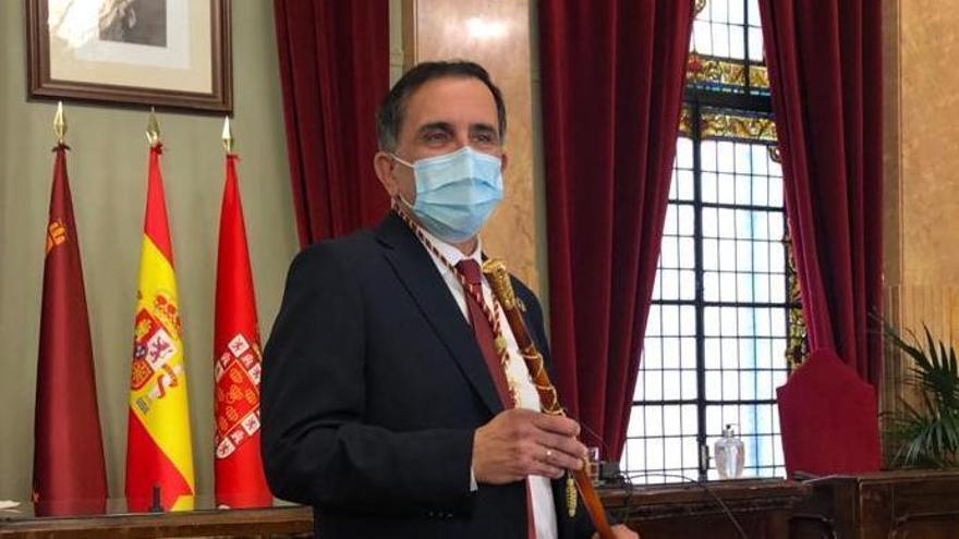 José Antonio Serrano, ayer, durante la toma de posesión.