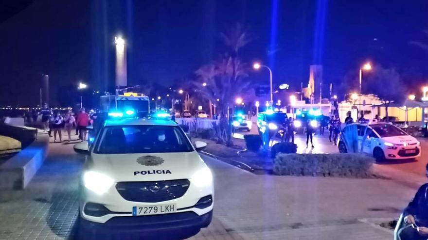 La Policía vuelve a dispersar varios botellones en Palma