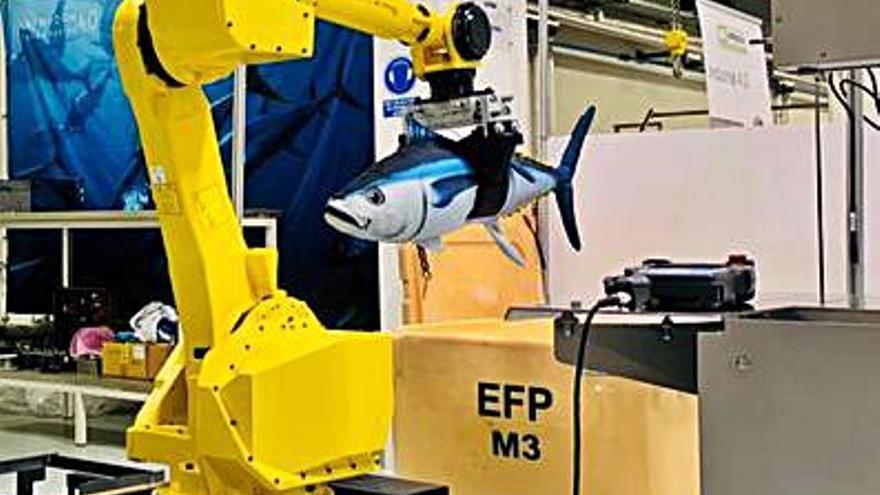 """Anfaco y Emenasa presentan el primer robot de """"Spectuna"""""""