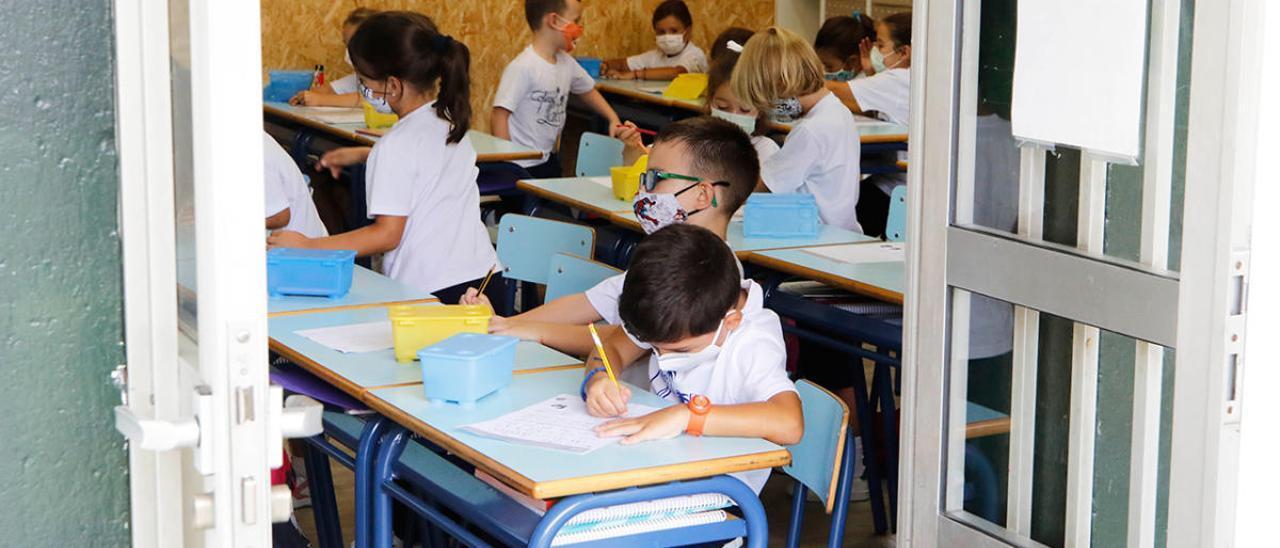 Un aula del Colegio Labor, en Vigo.