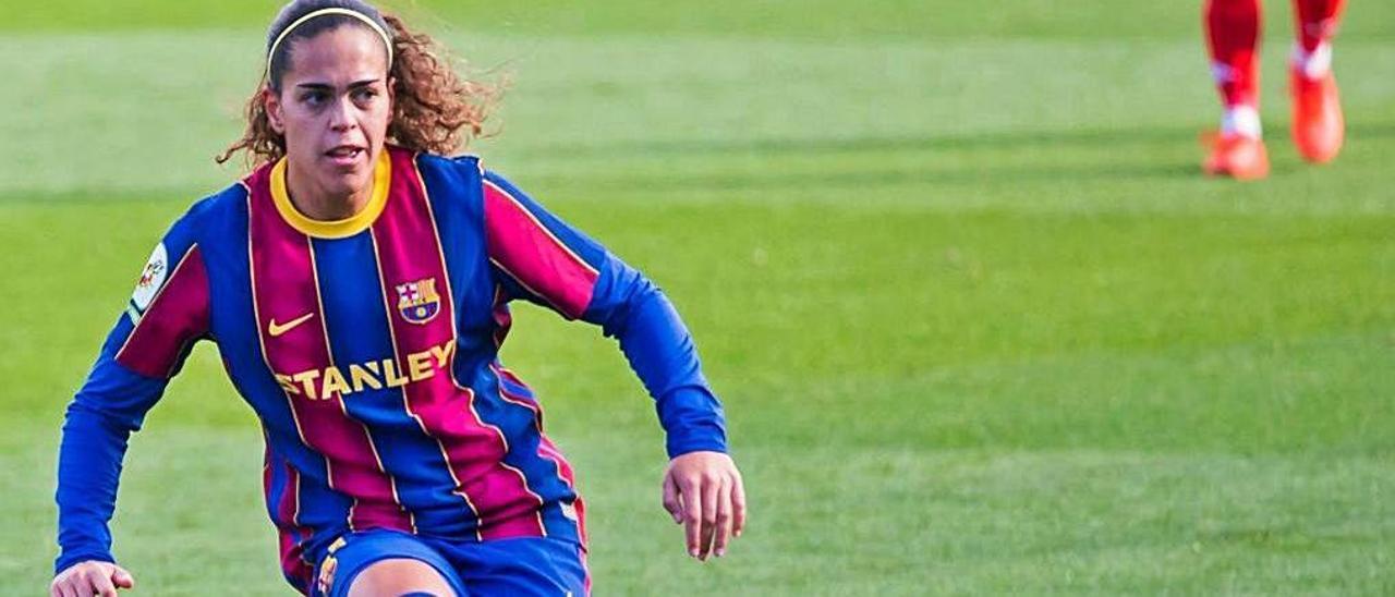 La aruquense Andrea Falcón, jugadora del FC Barcelona.