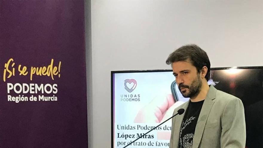 """Unidas Podemos denuncia a López Miras por """"mediar en la gestión sanitaria de un familiar de García Egea"""""""