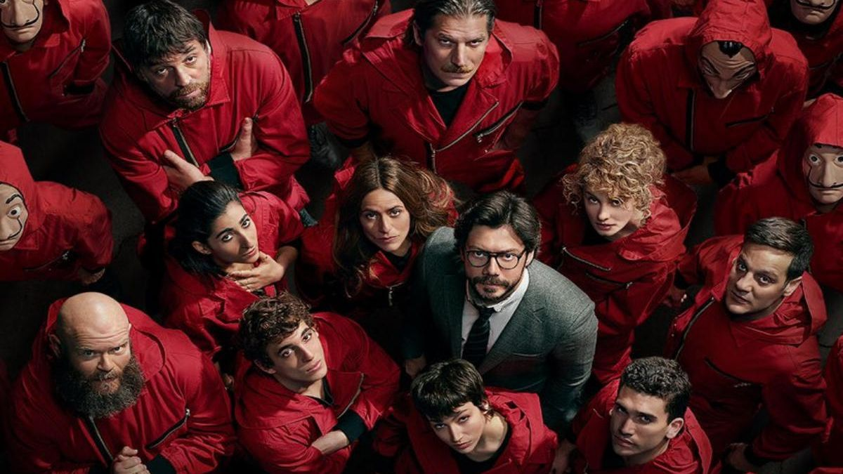 Imagen del reparto de 'La Casa de Papel'.