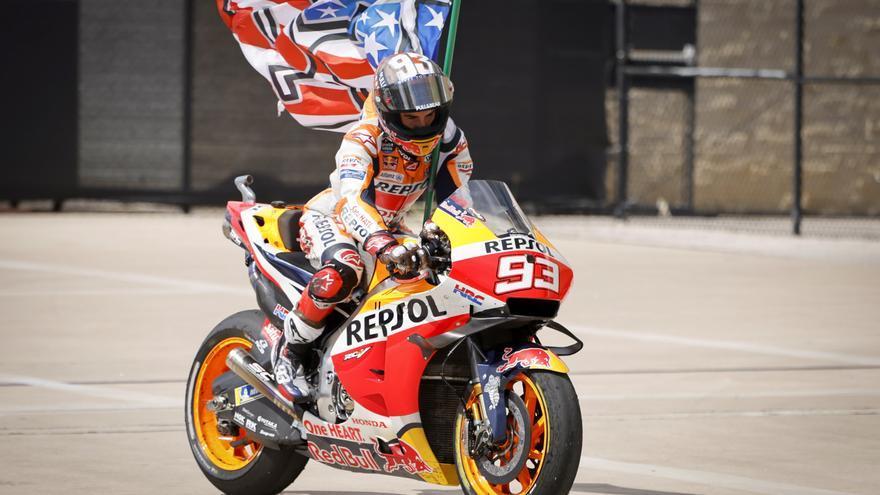 Marc Márquez, ganador de MotoGP 2021 en el circuito de Las Américas
