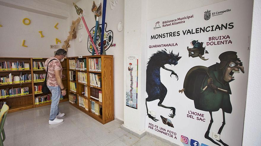 La biblioteca pública rescata los «monstruos valencianos» para redecorar la sala infantil