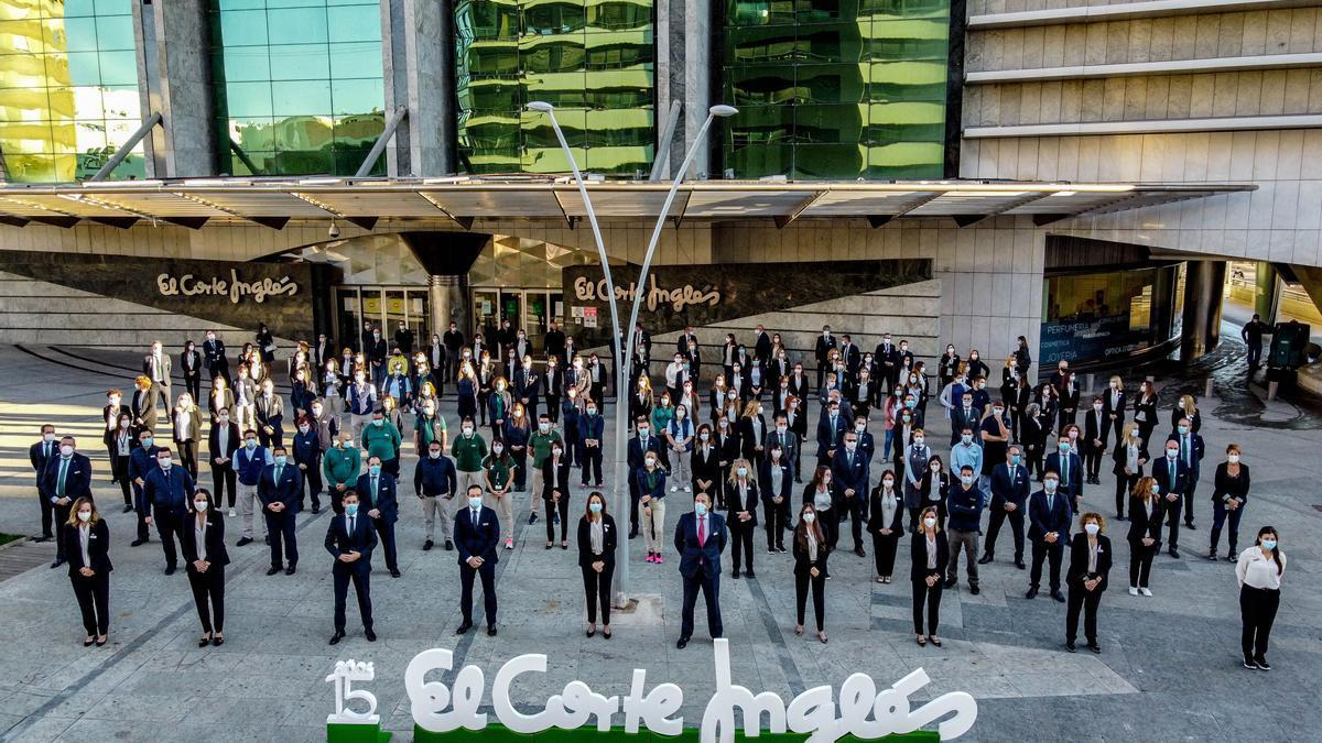 Trabajadores de El Corte Inglés de Castelló.