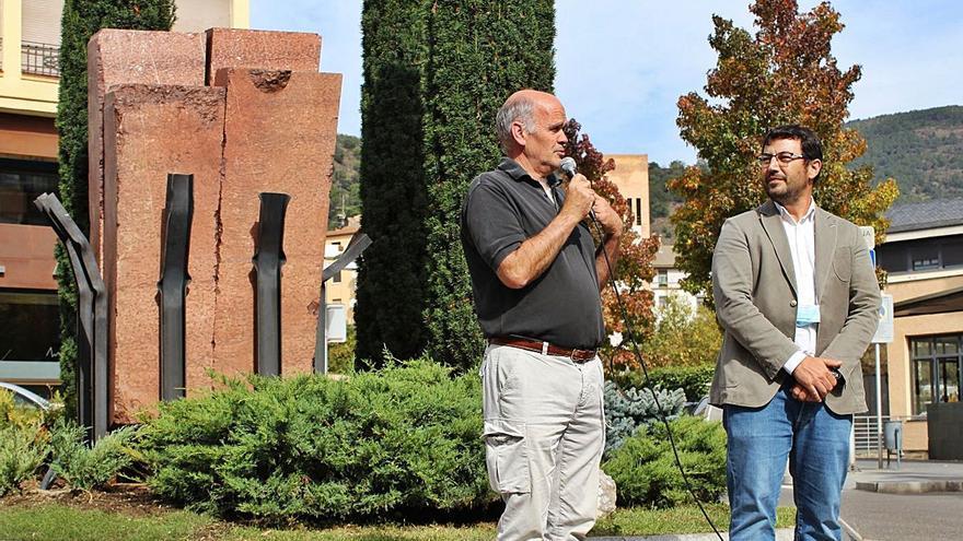 La Seu llueix la nova escultura d'Altés que homenatja el president Lluís Companys