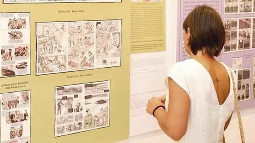 Clausura de la exposición 'Imaxes da memoria. O cómic como recurso didáctico' en Panaderas