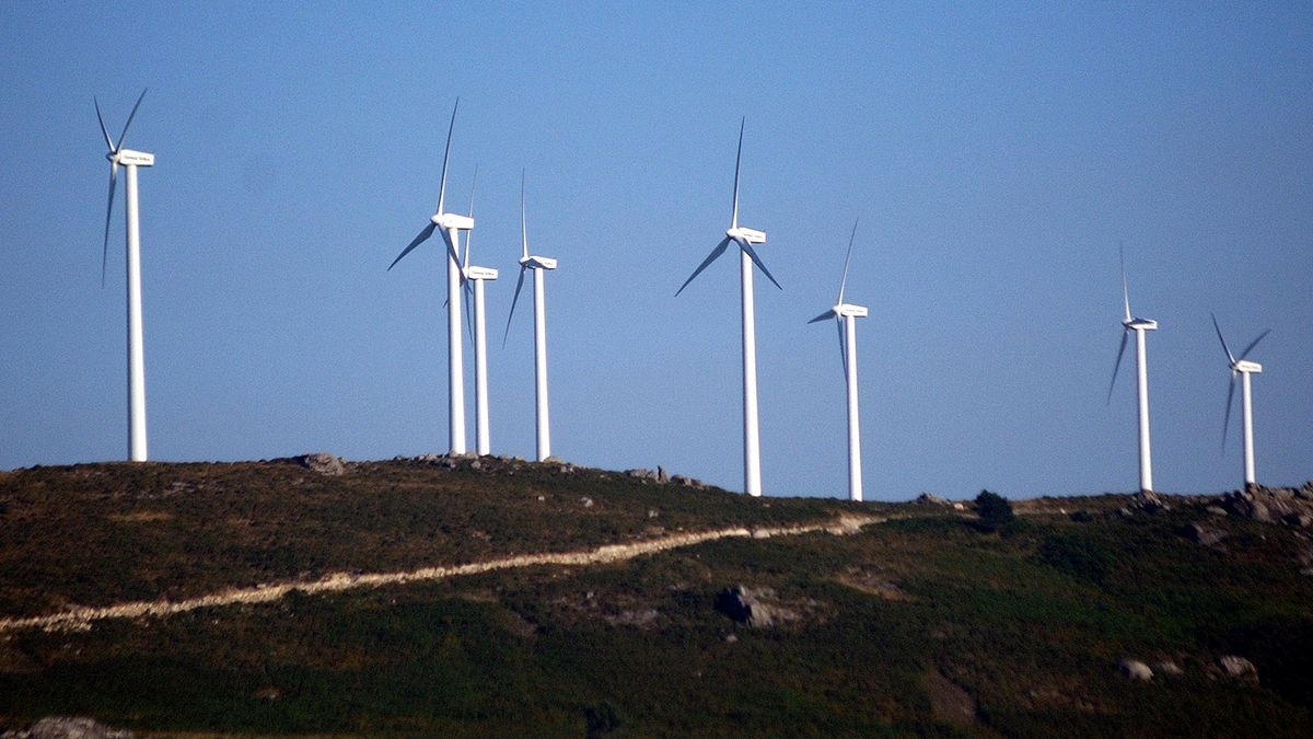 Un parque eólico en la provincia