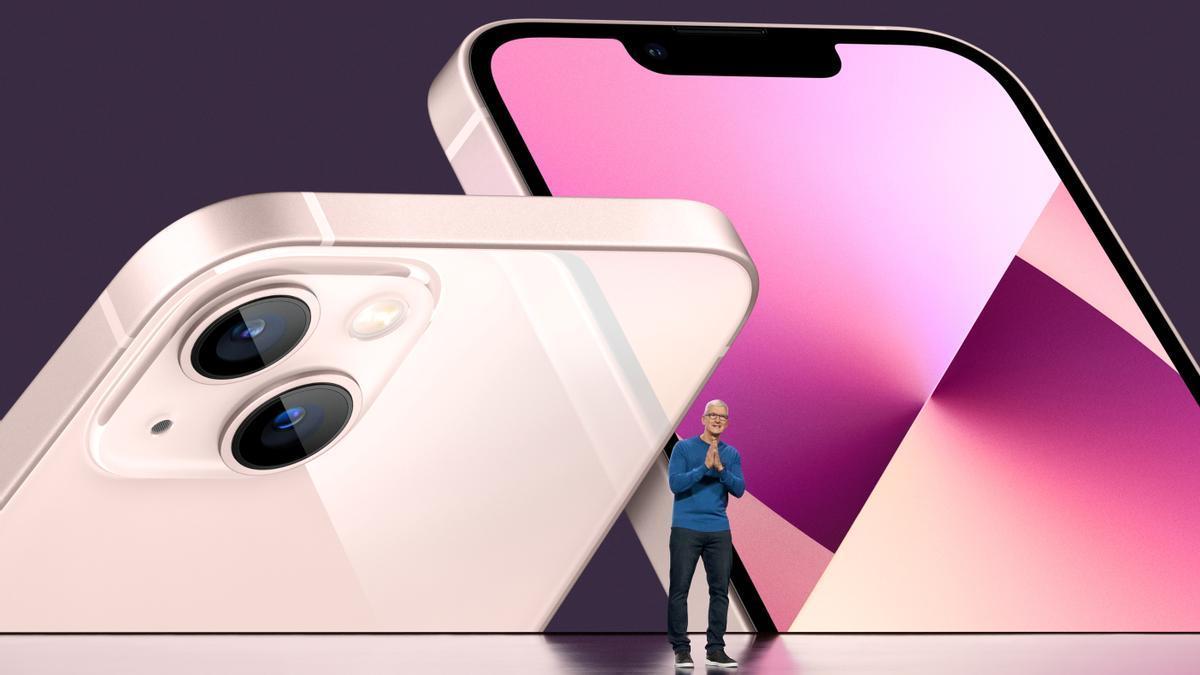 Tim Cook, durante la presentación del iPhone 13.