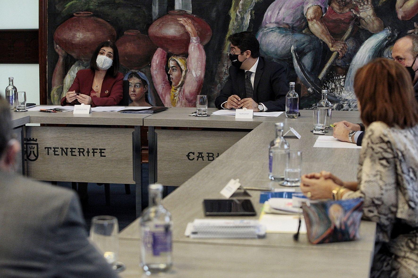 Comparecencia de Pedro Martín y la ministra Carolina Darias