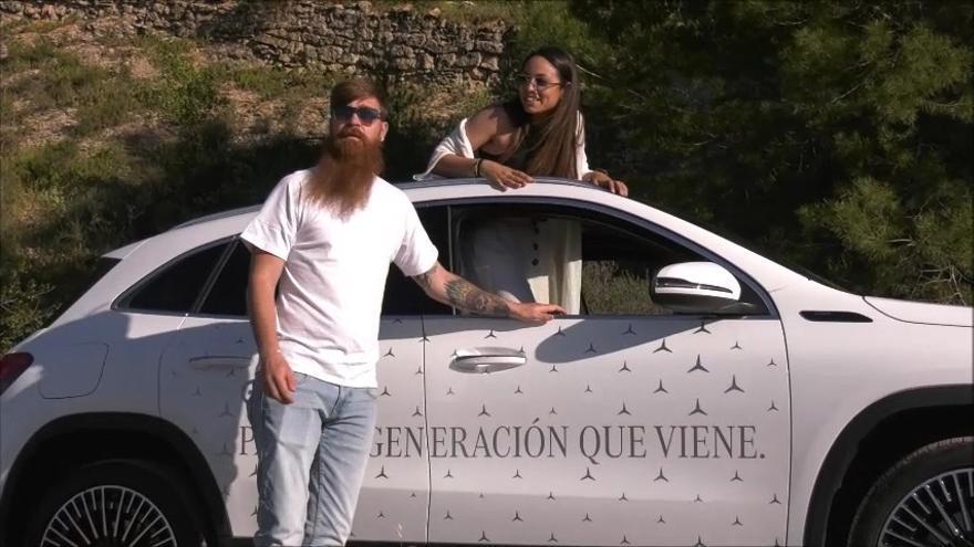 Dimóvil y La Opinión, con el nuevo EQA 250 de Mercedes-Benz, continúan su aventura eléctrica en Lorca
