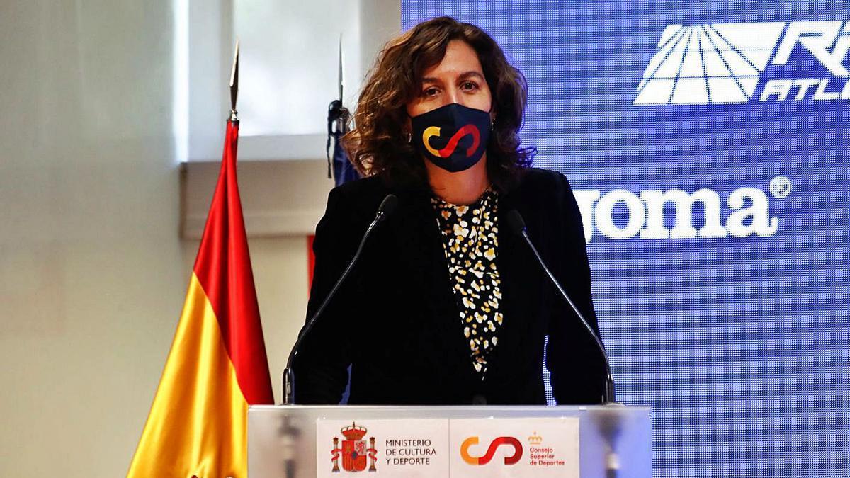 Irene Lozano, en una comparecencia en el CSD. |  // E.P.